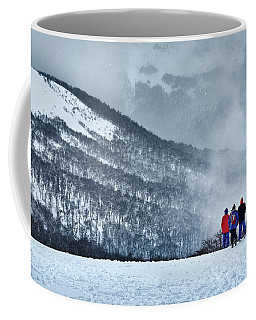 White Landscape In The Frozen Paradise In The Argentine Patagonia Coffee Mug