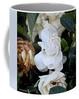 White Large Gardenia Coffee Mug