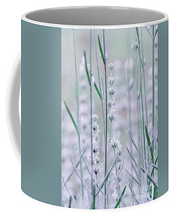 Coffee Mug featuring the photograph White Lavender  by Andrea Anderegg