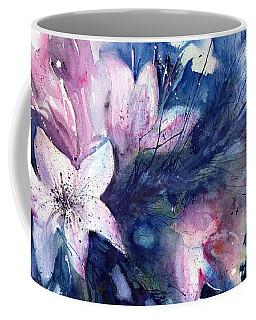 Flowers - White Lilies In Red Vase Coffee Mug