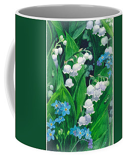 White Lilies Of The Valley Coffee Mug