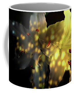 White Lilies With Shadows And Light Coffee Mug