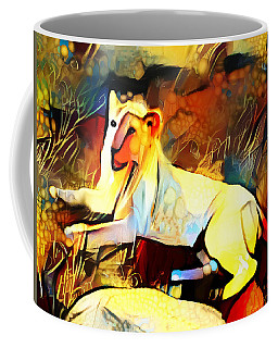 Coffee Mug featuring the photograph White Lioness by Pennie  McCracken