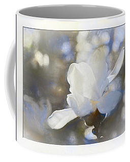 White Magnolia Flower Blossom In The Sunlight Coffee Mug