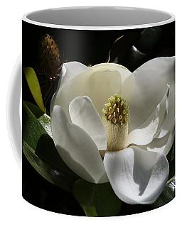 White Magnolia Flower Coffee Mug