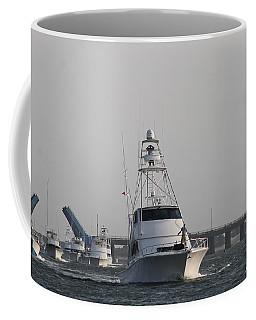Coffee Mug featuring the photograph White Marlin Open Boats by Robert Banach