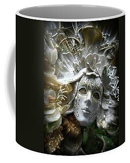 Coffee Mug featuring the photograph White Masked Celebration by Amanda Eberly-Kudamik