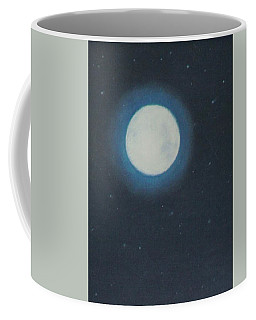 White Moon At Night Coffee Mug