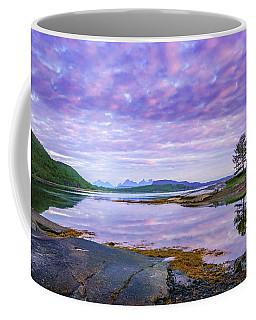 White Night In Nordkilpollen Cove Coffee Mug