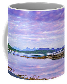Coffee Mug featuring the photograph White Night In Nordkilpollen Cove by Dmytro Korol