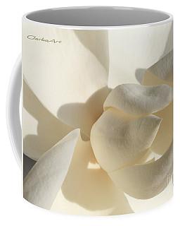 White-on-white Magnoia Coffee Mug