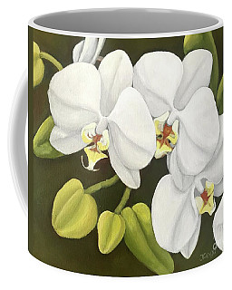 White Orchid Coffee Mug by Inese Poga