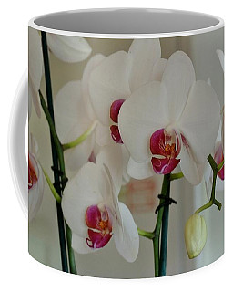 White Orchid Mothers Day Coffee Mug by Marsha Heiken