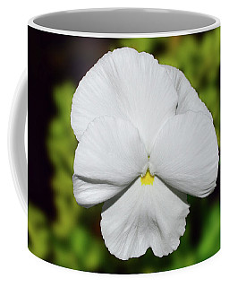 Coffee Mug featuring the photograph White Pansy 005 by George Bostian