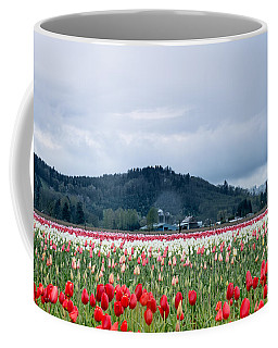 White Pass Highway With Tulips Coffee Mug