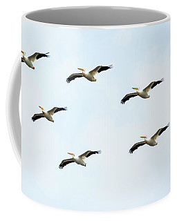 White Pelican Flyby Coffee Mug