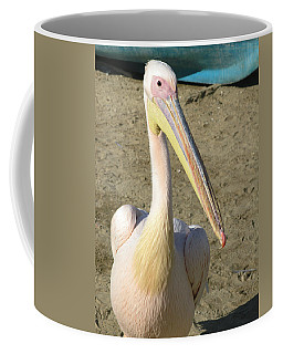 White Pelican Coffee Mug by Sally Weigand