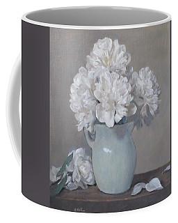 Gray Day For White Peonies Coffee Mug