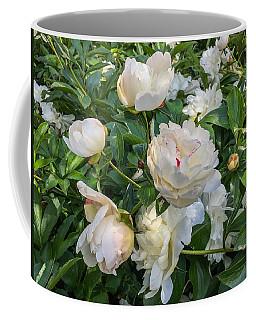 White Peonies In North Carolina Coffee Mug