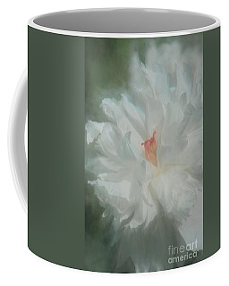 Coffee Mug featuring the photograph White Peony by Benanne Stiens