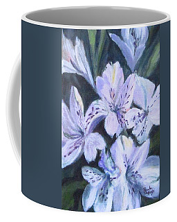 White Peruvian Lily Coffee Mug
