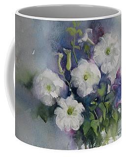 White Petunias Coffee Mug