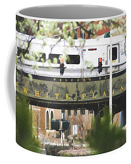 Coffee Mug featuring the photograph White Plains Train Station by Ericamaxine Price
