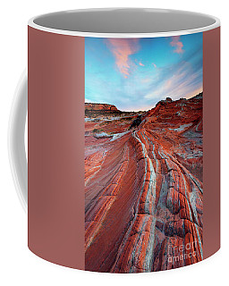 Coffee Mug featuring the photograph White Pocket Sunset by Mike Dawson