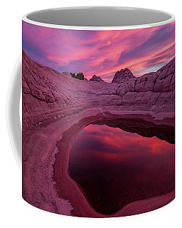 White Pocket Sunset Coffee Mug