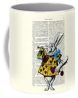 White Rabbit Blows His Trumpet Three Times Alice In Wondreland Coffee Mug