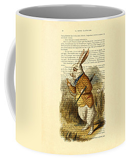 White Rabbit, I Am Late, I Am Late, For A Very Important Date Coffee Mug