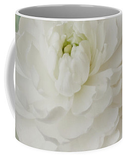 White Ranunculus Coffee Mug by Sandra Foster