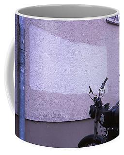 White Rectangle And Vintage Bikes Coffee Mug