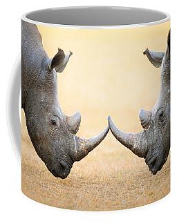 White Rhinoceros  Head To Head Coffee Mug