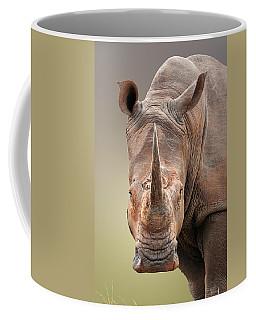 White Rhinoceros Portrait Coffee Mug