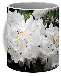 White Rhododendron Coffee Mug by Cindy Murphy - NightVisions