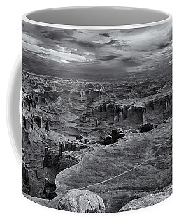 White Rim Overlook Monochrome Coffee Mug