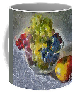 White, Rose And Red Grapes Coffee Mug