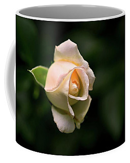 White Rosebud Coffee Mug