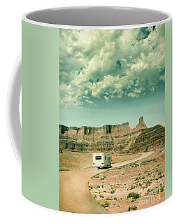 Coffee Mug featuring the photograph White Rv In Utah by Jill Battaglia