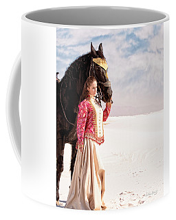 White Sands Horse And Rider #2a Coffee Mug