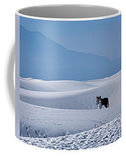White Sands Horse And Rider #5b Coffee Mug