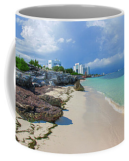 White Sandy Beach Of Cancun Coffee Mug