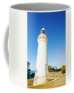 White Seaside Tower Coffee Mug