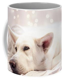 White Shepherd Coffee Mug by Amber Kresge