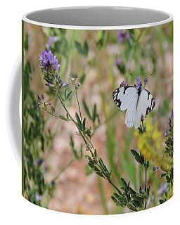 White-skipper On Lupine Coffee Mug