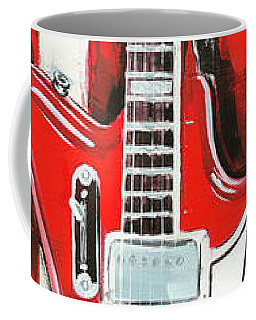 White Stripes Guitar Coffee Mug