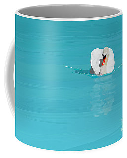 White Swan Blue Lake Coffee Mug