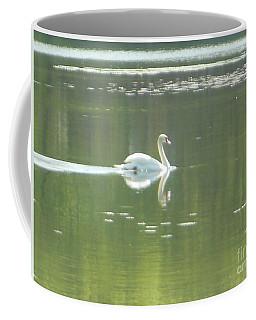 White Swan Silhouette Coffee Mug
