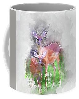 White Tail Deer In Watercolor Coffee Mug